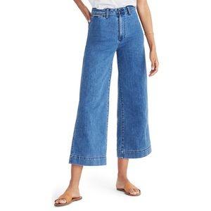 FINAL SALE*~ Madewell high waist crop leg jeans